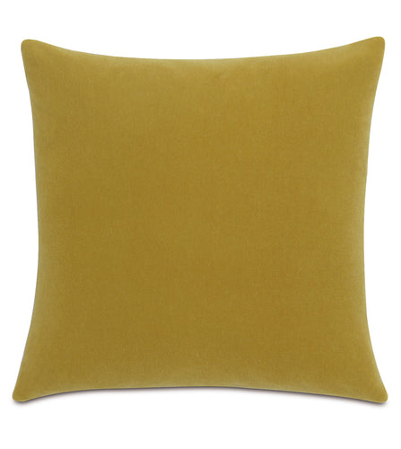 Marigold Mohair Throw Pillow Knife Edge