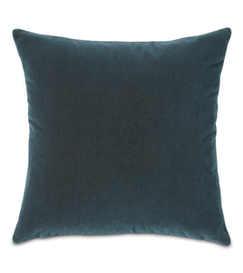 Omber Blue Mohair Throw Pillow Knife Edge