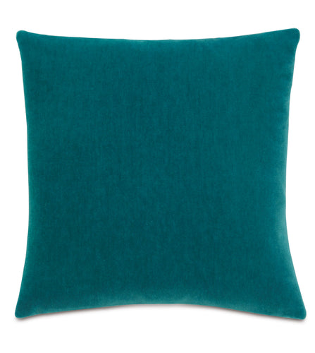 Peacock Mohair Throw Pillow Knife Edge