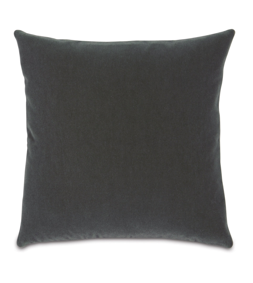Persian Gray Mohair Throw Pillow Knife Edge
