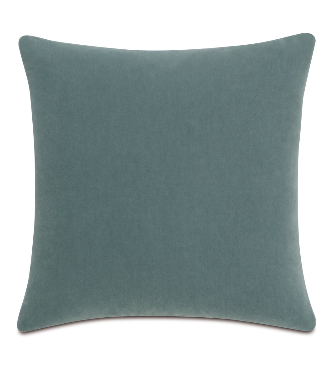 Seafoam Mohair Throw Pillow Knife Edge