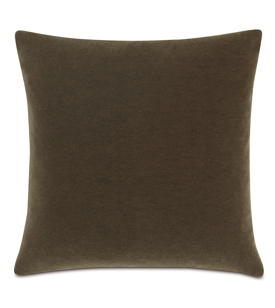Truffle Mohair Throw Pillow Knife Edge