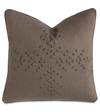 "Linen Mountain Lodge Studded Geometric Throw Pillow 20""x20"""