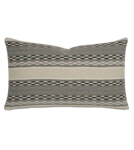 "Telluride Striped Wool Accent Pillow 13""x22"""