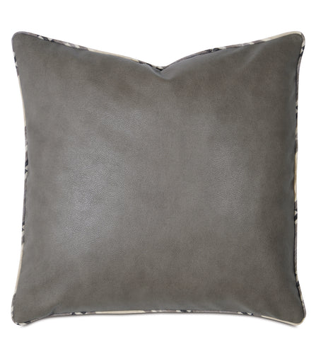 Telluride Mini Welt Decorative Accent Pillow in Cowhide Leather 20