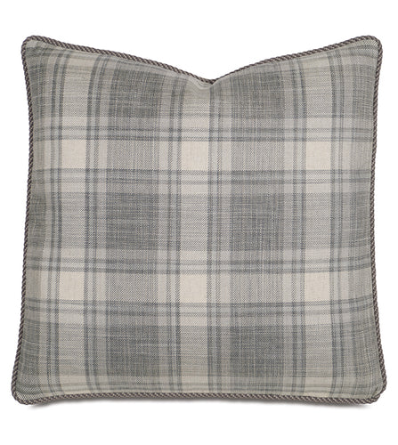 Telluride Rustic Gray Plaid Accent Pillow 20