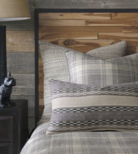 "Telluride Rustic Gray Plaid Accent Pillow 20""x20"""