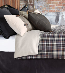 Rustic Lodge Gray Blue Plaid Comforter