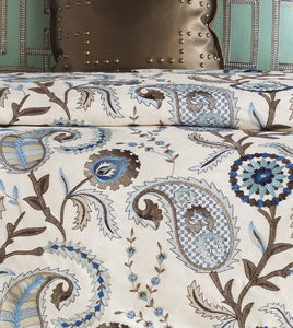 Hudson Earth Blue Mountain Resort Botanical Embroidered Duvet Cover