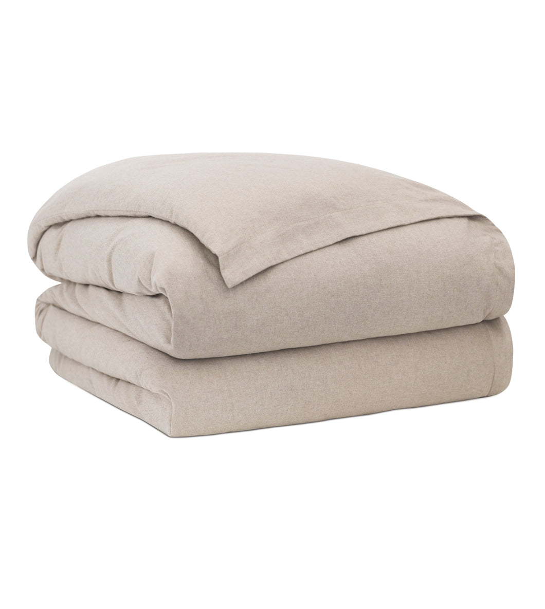 Landon Sand  Solid 100% Cotton Duvet Cover