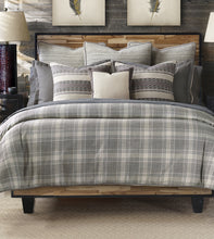 Telluride Warm Gray Plaid Duvet Cover
