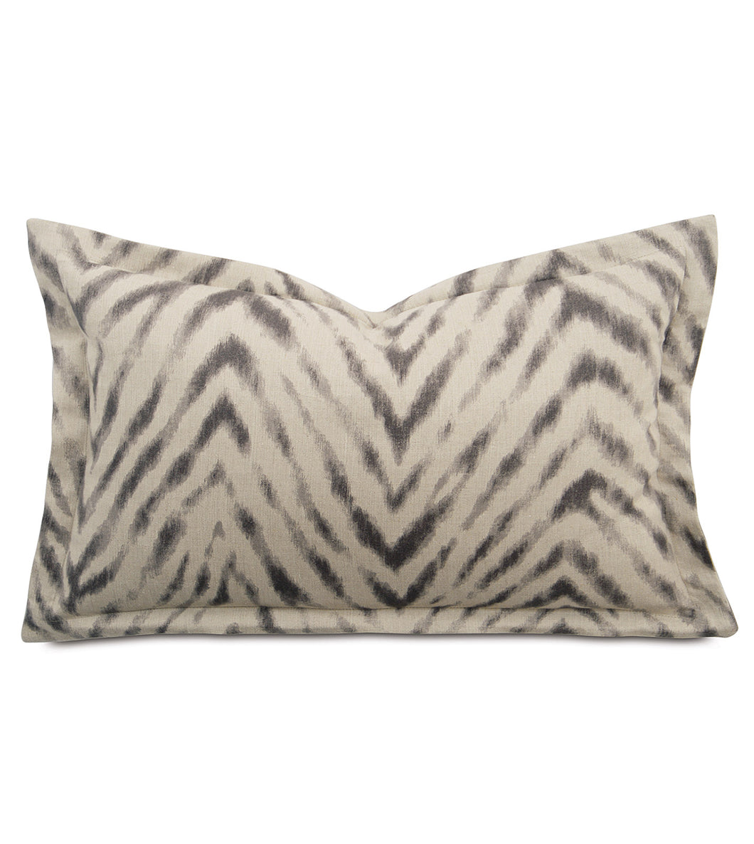 Fletcher Modern Animal Print Linen Flange King Sham in Beige 21