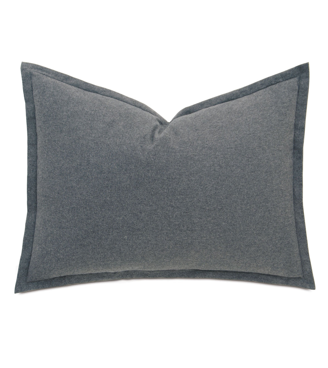 Landon Gravel Solid Cotton  Standard Sham in Grey 20