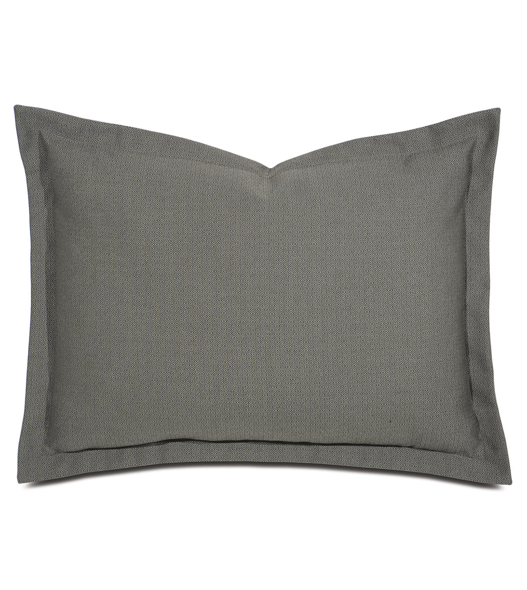 Gray Mountain Resort Ethnic Geometric Standard Sham Self Flange 20