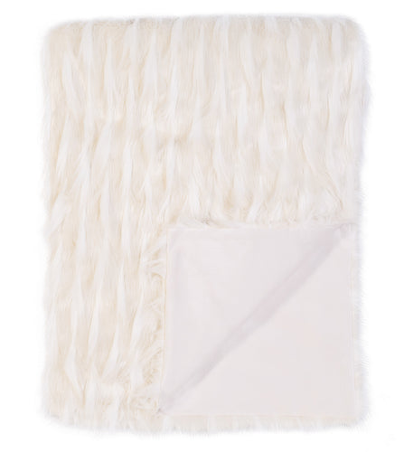 Snow White Luxe Glamour Faux Fur Throw
