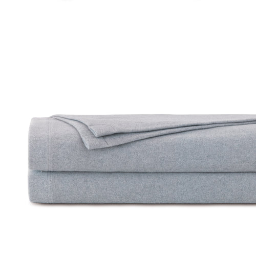 Brera Gray Solid Flannel 100% Cotton Blanket