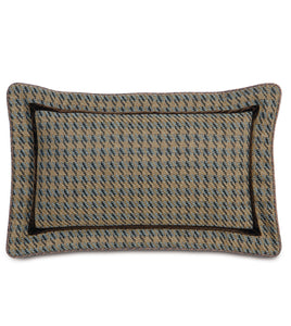 "Powell Textured  Houndstooth Pillow in Multicolored 13""x 22"""