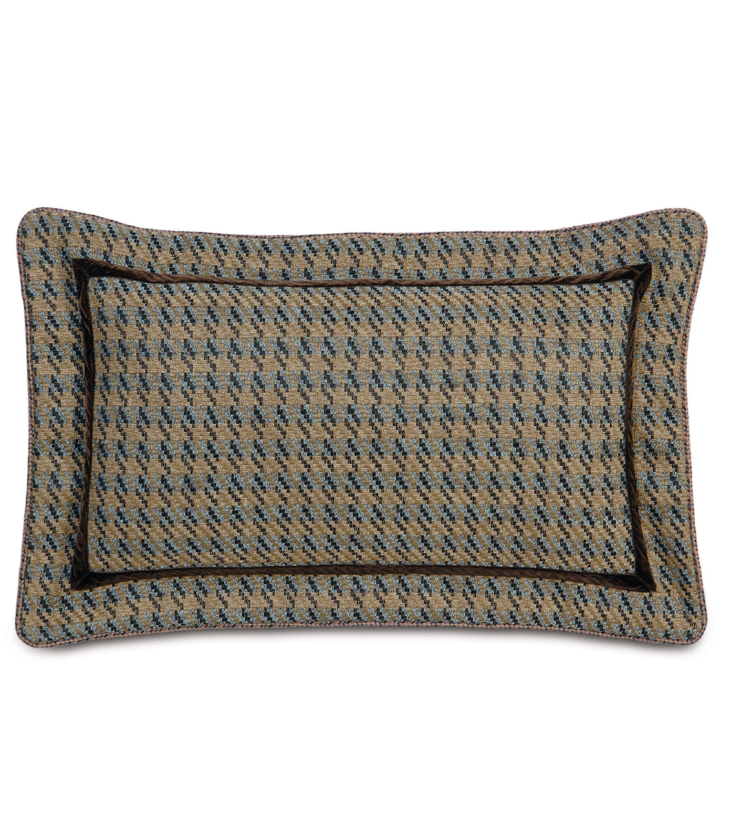 Powell Textured  Houndstooth Pillow in Multicolored 13