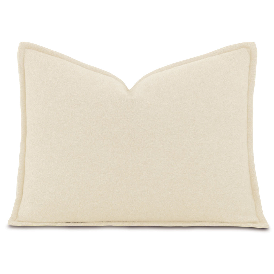 Brera Flannel Ivory Mountain Resort Solid Lumbar Pillow Self Flange 12