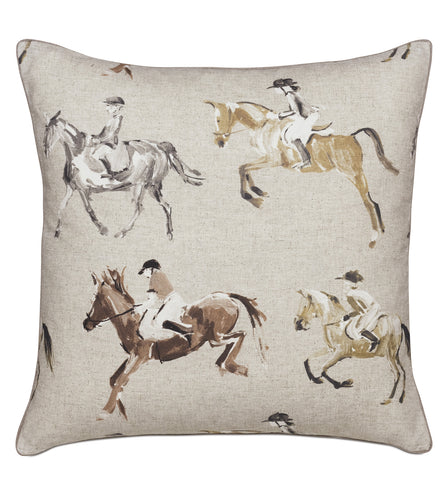 Jockey Khaki Decorative Pillow