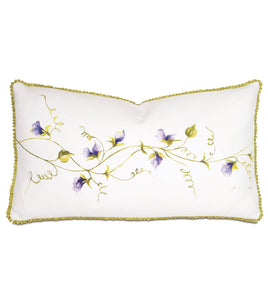 "Purple Vine Hand Painted Mountain Resort Lumbar Pillow 15""x26"""