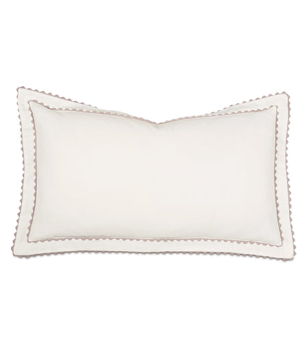 Ivory  Mountain Resort Cotton King Sham With Scallop Edge 21