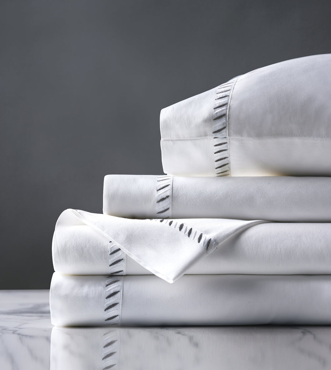 Ona Charcoal Luxury Fine Linen Sheet Set