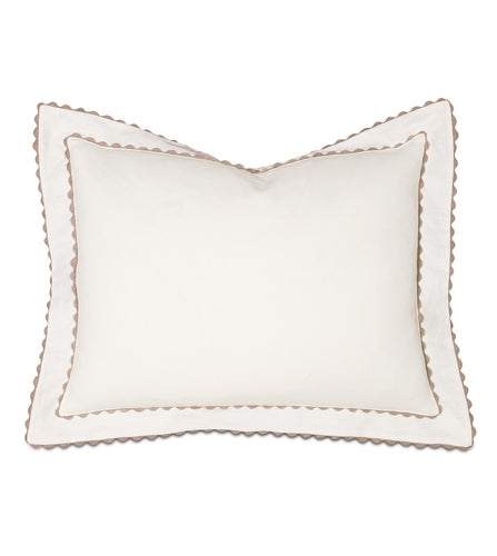 Ivory Mountain Resort Cotton Standard Sham With Scallop Edge 20