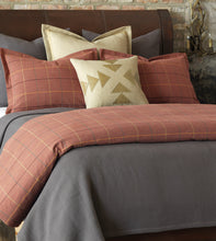 Chalet Alpine Home Slate Gray Herringbone Textured Coverlet