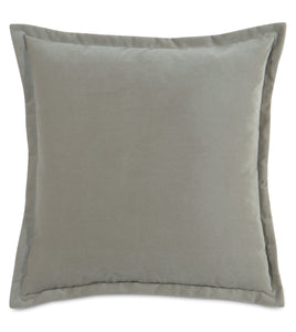 Heather Velvet Self Flange Throw Pillow