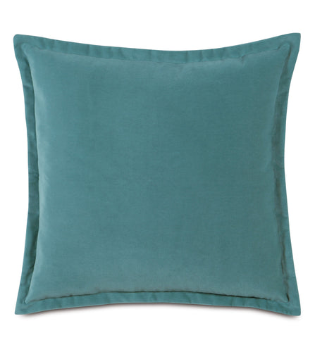Ocean Velvet Self Flange Throw Pillow