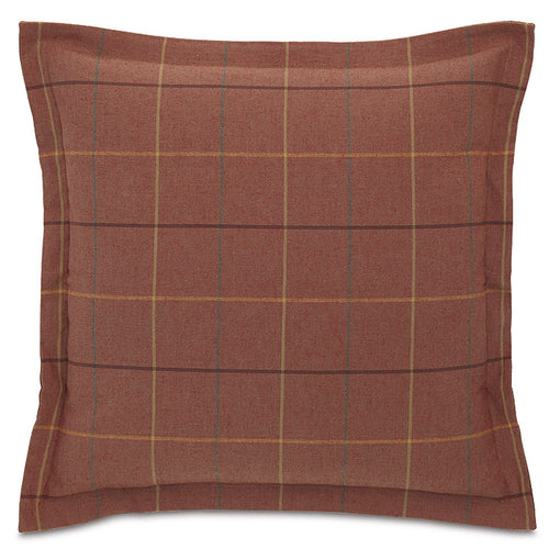 Red Rustic Cabin Plaid Throw Pillow 24