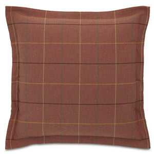 "Red Rustic Cabin Plaid Throw Pillow 24""x24"""