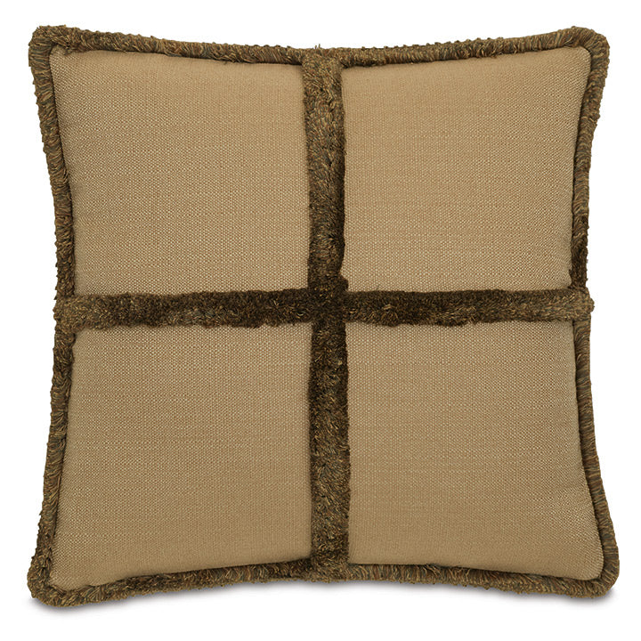 Chalet Alpine Lodge Faux Fur Throw Pillow With Brush Fringe 22