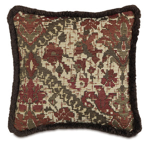 "Chalet Alpine Russet Southwestern Tribal Accent Pillow 18""×18"""