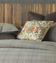 Chalet Alpine Gray Lodge Plaid Cotton Duvet Cover