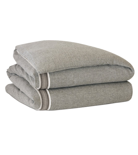 Borden Warm Gray Mountain Lodge Solid Duvet Cover