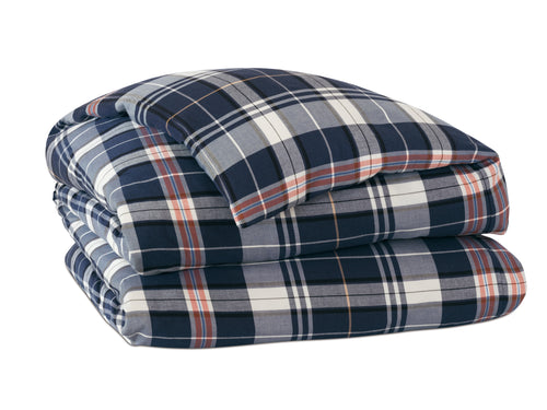 Scout Indigo Plaid Duvet Cover