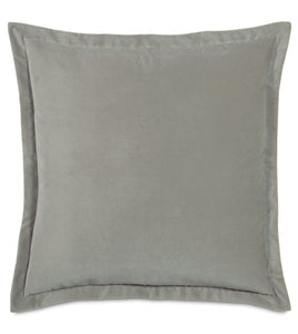 "Heather Velvet Euro Sham Self Flange 27""x27"""