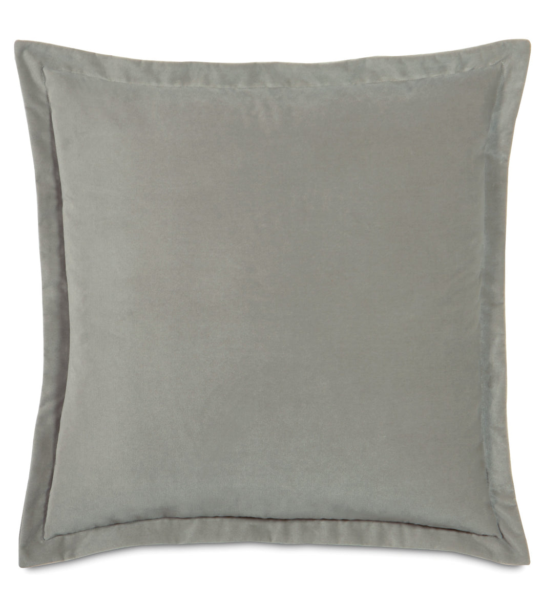 Heather Velvet Euro Sham Self Flange 27