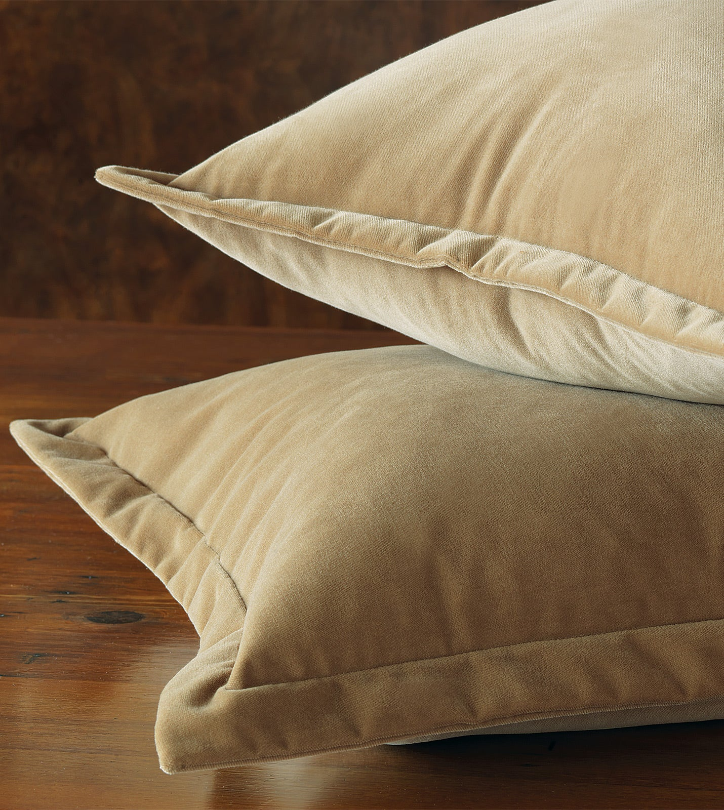 Gold Velvet Euro Sham Self Flange 27 X27 Rustic Lodge Collection