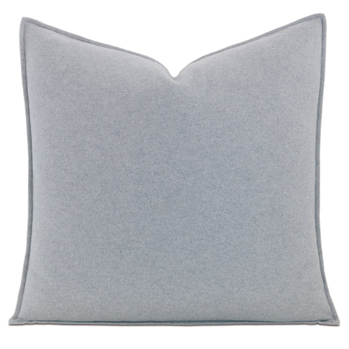 Brera Gray Solid 100% Cotton Euro Sham