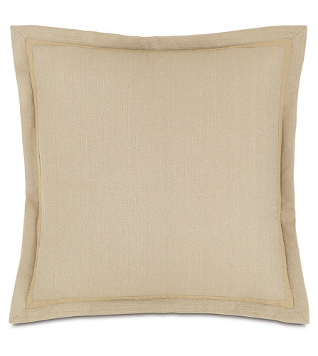 Chalet Alpine Slate Solid Euro Sham in Cream 27''×27''