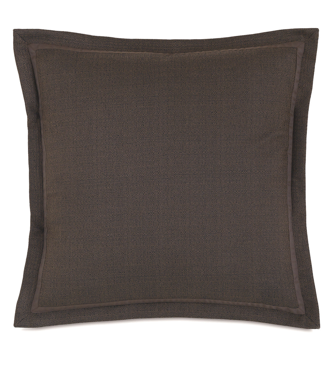 Mocha Log Cabin Solid Euro Sham Self Flange 27