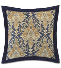 Arthur Traditional Aristocratic Pattern Euro Sham in Gold and Blue 27''×27''