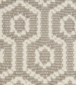 "Gavin Neutral Mountain Resort Geometric Jacquard Euro Sham With Welt 27""x27"""