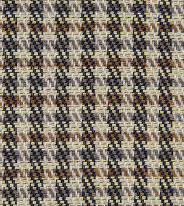 "Beige Brown Houndstooth Studded Lodge Throw Pillow With Brush Fringe 24""x24"""