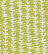 "Chartreuse Abstract Forest Mountain Cotton Standard Sham With Welt 20""x27"""