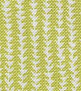 "Chartreuse Abstract Forest Mountain Cotton King Sham With Welt 21""x37"""