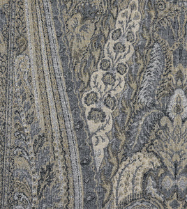 "Reign Brush Fringe Paisley Standard Sham in Gray 20""×27"""